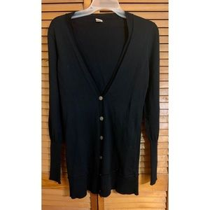 Black J Crew Cardigan Button Down Sweater